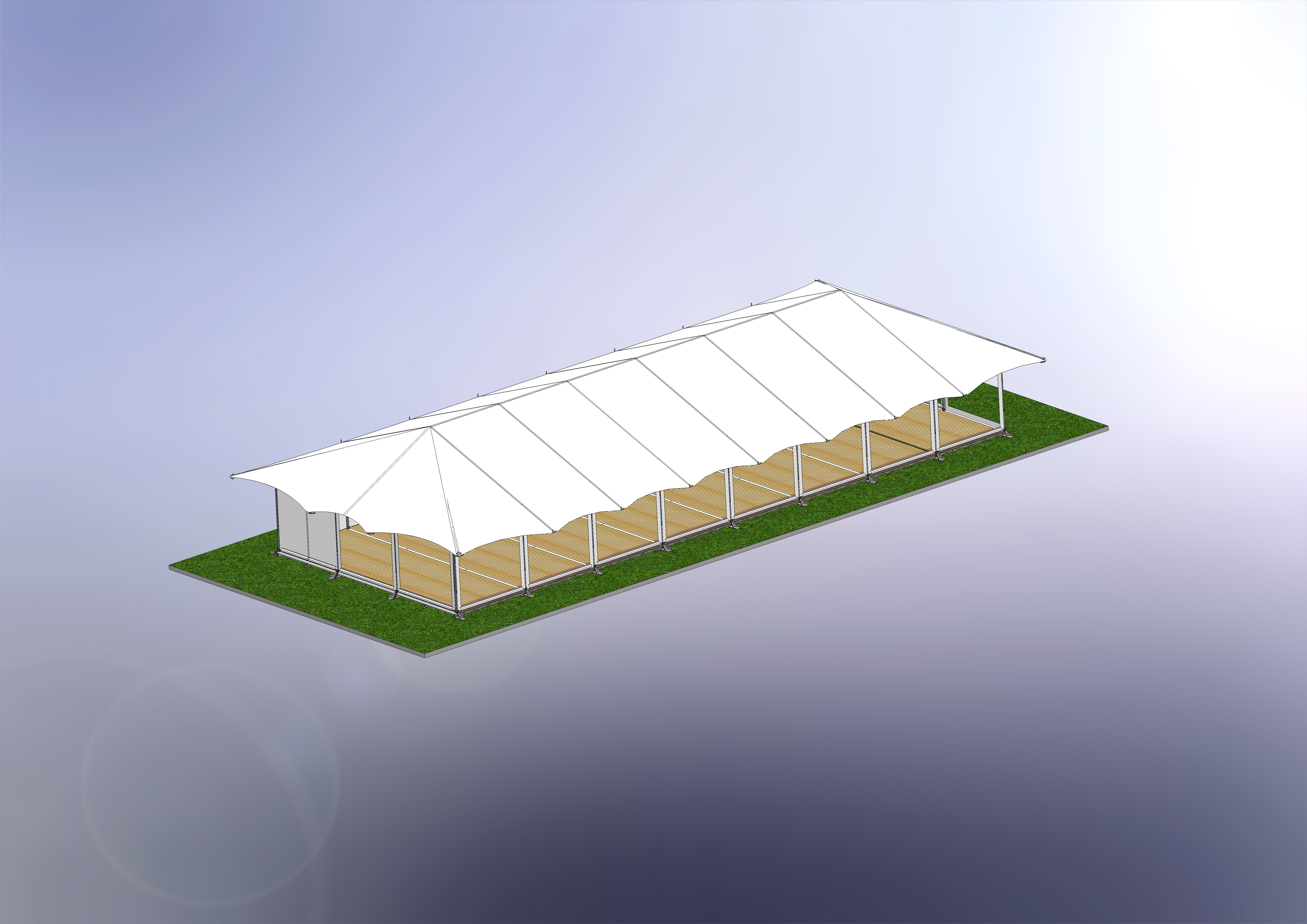 HAYLING 9.0M x 24.0M COMPLETE LAYOUT WITH COVERS WITHOUT CONES MW