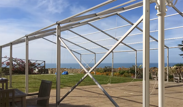 <b>Taddle Farm Tents</b> <br> 9m x 18m Coverspan Marquee