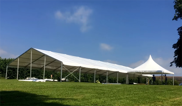 <b>Taddle Farm Tents</b><br>12m x 27m Coverspan Tent with Pagoda