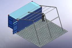 Bespoke Canopy Structure for Container