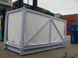 Skeleton Container fitted with internal PVC curtains