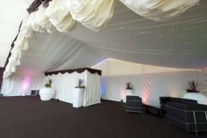 12m starlight pole and drape and dividing curtain