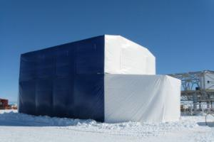 antarctic cover for BAS fitted