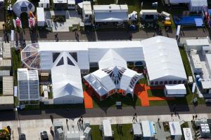 Arial Photo of Showman Show stand 2011