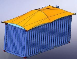 Container roof cover