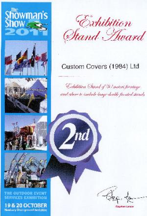 Showman's Show 2011 Exhibition stand award